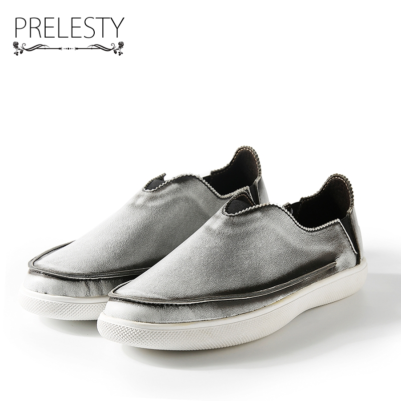 Prelesty Brand Vintage Retro Gentleman Exotic Men Casual Shoes Moccasins Soft Flat Driving Loafers Hip Hop Cool Zapatillas casual dancing sneakers hip hop shoes high top casual shoes men patent leather flat shoes zapatillas deportivas hombre 61