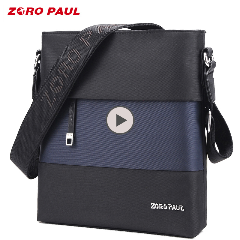 купить ZORO PAUL High Quality Oxford Bag Male Satchels Brand Designer Men's Shoulder Business Crossbady Bag for Men Messenger Bags недорого