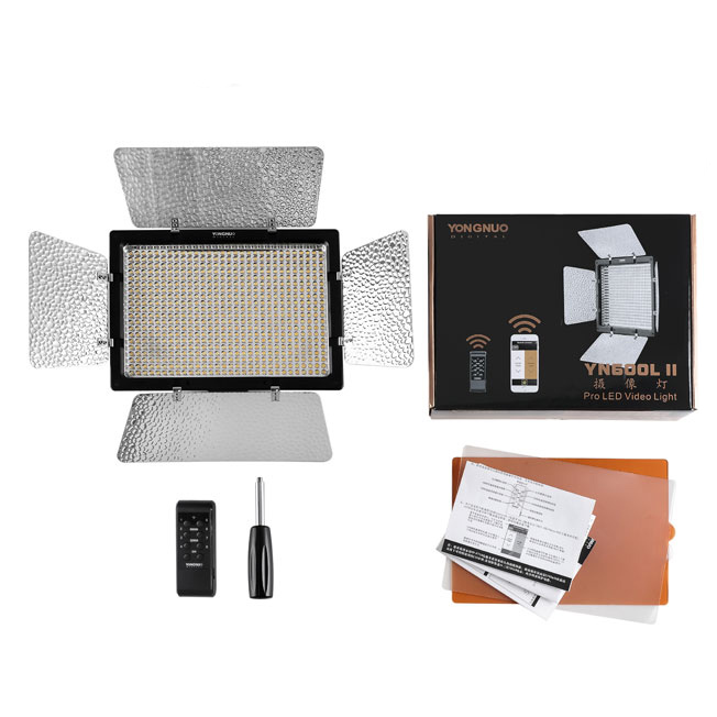 YONGNUO <font><b>YN600L</b></font> II 3200K-5500K YN600 600 RA CRI 95 LED Light Panel with 2.4G Wireless Remote Control LED Video Light image