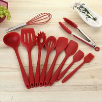 10pcs Non Stick Kitchenware Silicone Heat Resistant Kitchen Cooking Utensils Baking Tool Cooking Tool Sets