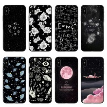 Universe Series The plane Phone Case For iphone X Case For iphone 6 6S 7 8 Plus 5S SE Fashion Cover Cute Planet Moon Star Cases цены