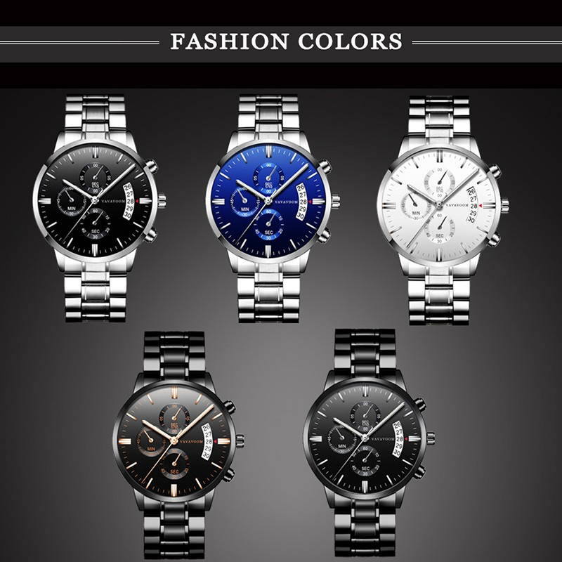 2019 New Men 39 s Watch Stainless Steel Belt Business Quartz Watches Top Luxury Brand Sport relogio masculino watereproof reloj in Quartz Watches from Watches