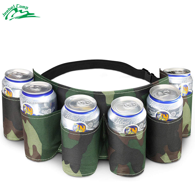 6-Pack Beer Belt Outdoor Camping Beer Waistband Picnic Bag Tableware Accessories
