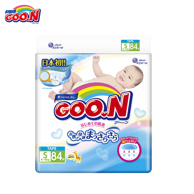 Подгузники GOON Boys and Girls 4-8 кг (84 шт.) S