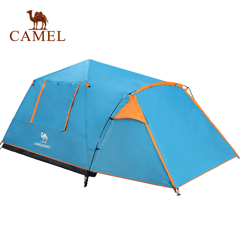 CAMEL Automatic Opening Camping Tent Solid Color 4 Season Double Layer Waterproof Outdoor Travel Beach Tent For 3-4 Person camel automatic opening camping tent solid color 4 season double layer waterproof outdoor travel beach tent for 3 4 person