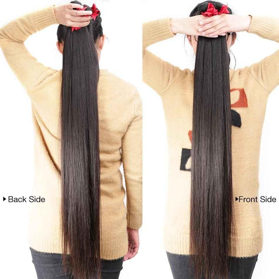 Promqueen toptan brezilya saçı örgü demetleri Remy saç dokuma doğal renk 30 32 34 40 uzun saç postişi demetleri uzatma