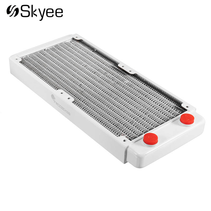 240mm Water Cooling Radiator Heatsink Copper Water-cooled Radiator Exhaust Heat Exchanger Water Cooling Cooler for Computer CPU 240mm 12 tube aluminum computer water cooler pc case water cooling radiator heat exchanger for laptop desktop