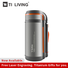 Tikungfu Titanium Thermos Vacuum Kettle Flask Bottle  1500 ml Insulated Outdoor Camping Home Hiking Travel Sports Large Capacity