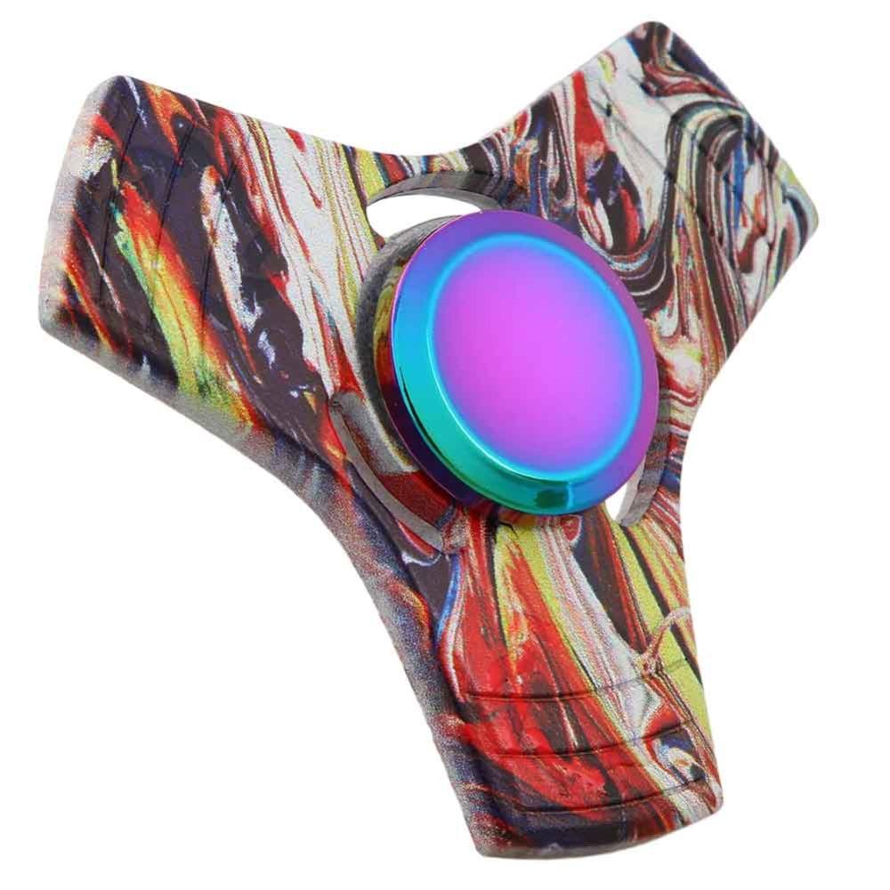 New Styles Butterfly Spinner Fidget Magical Three Corner Colorized Finger Spinner For Children Spinner Hand Anti Stress Gift Toy