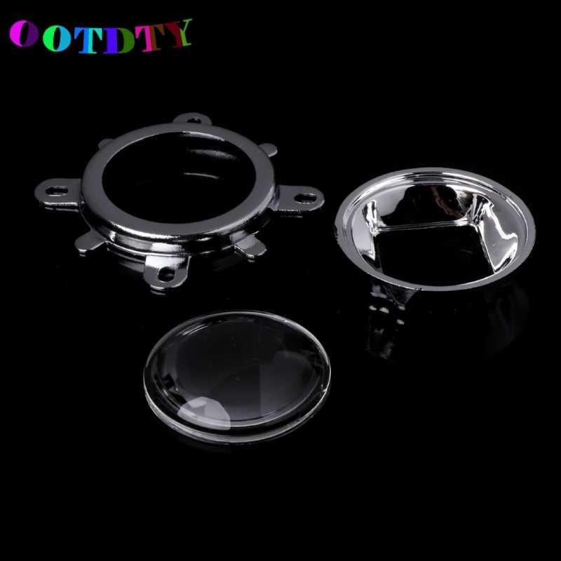 OOTDTY 60/120 Degree 44mm Lens + 50mm Reflector Collimator+ Fixed Bracket For 20W-100W LED Light Lamp