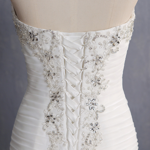 Image 5 - Vestido De Novia 2020 Vintage Beading Mermaid Wedding Dress Long Organza Embroidery Wedding Gown Sexy Backless Bridal Dress