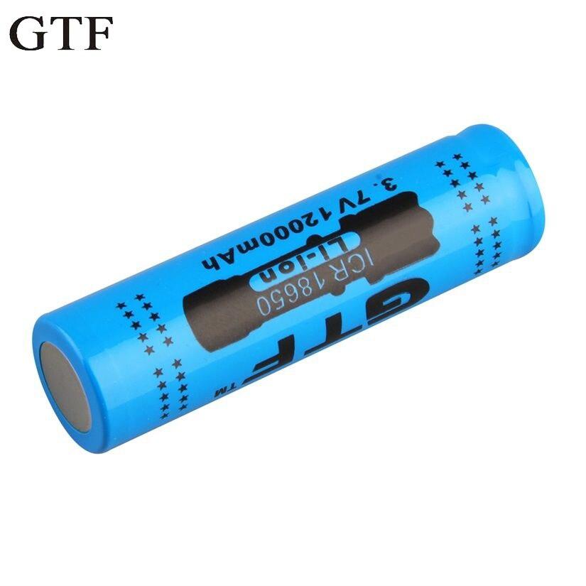 GTF 18650 3.7V 12000mAh Rechargeable Li-ion Battery for LED Torch Flashlight new 4pcs 3 7v 14500 2500mah li ion rechargeable battery for flashlight torch torch flashlight battery wholesale