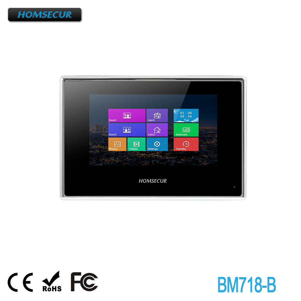 HOMSECUR BM718-B Snapshot & Recording Monitor For HDK Series Video&Audio Home Intercom