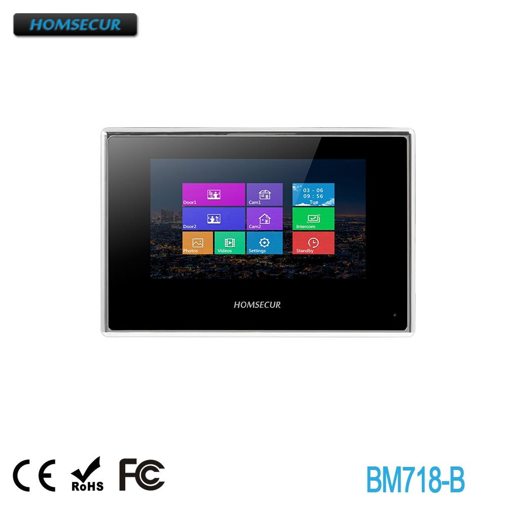 HOMSECUR BM718-B Snapshot & Recording Monitor For HDK Series Video&Audio Home Intercom