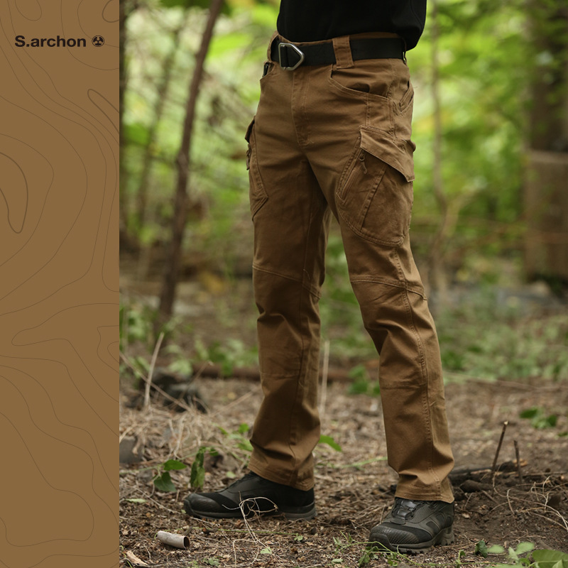 Image 3 - IX9 tactical mens pants Cargo casual Pants Combat SWAT Army  active Military work Cotton male Trousers mensCargo Pants   -