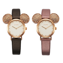 Disney brand original gift box cartoon children girl watches mickey Big ears kids girls students clocks waterproof NO.11141