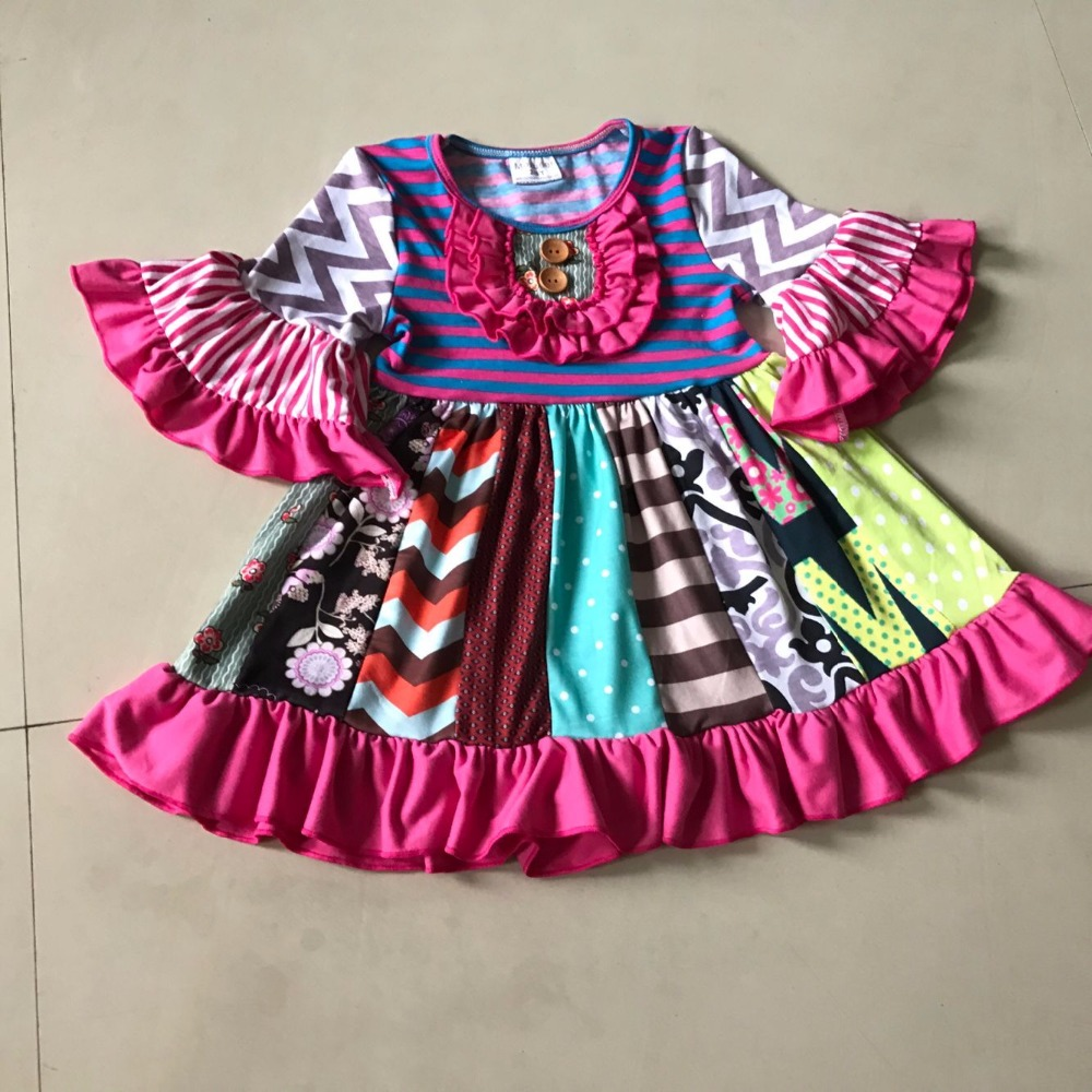 2017 Boutique Fall 100%Cotton Clothing Baby girls Dress Nursling Smart Casual Infants Apparel Kids Habiliment For Birthday knowledge cotton apparel кардиган knowledge cotton apparel модель 28184321
