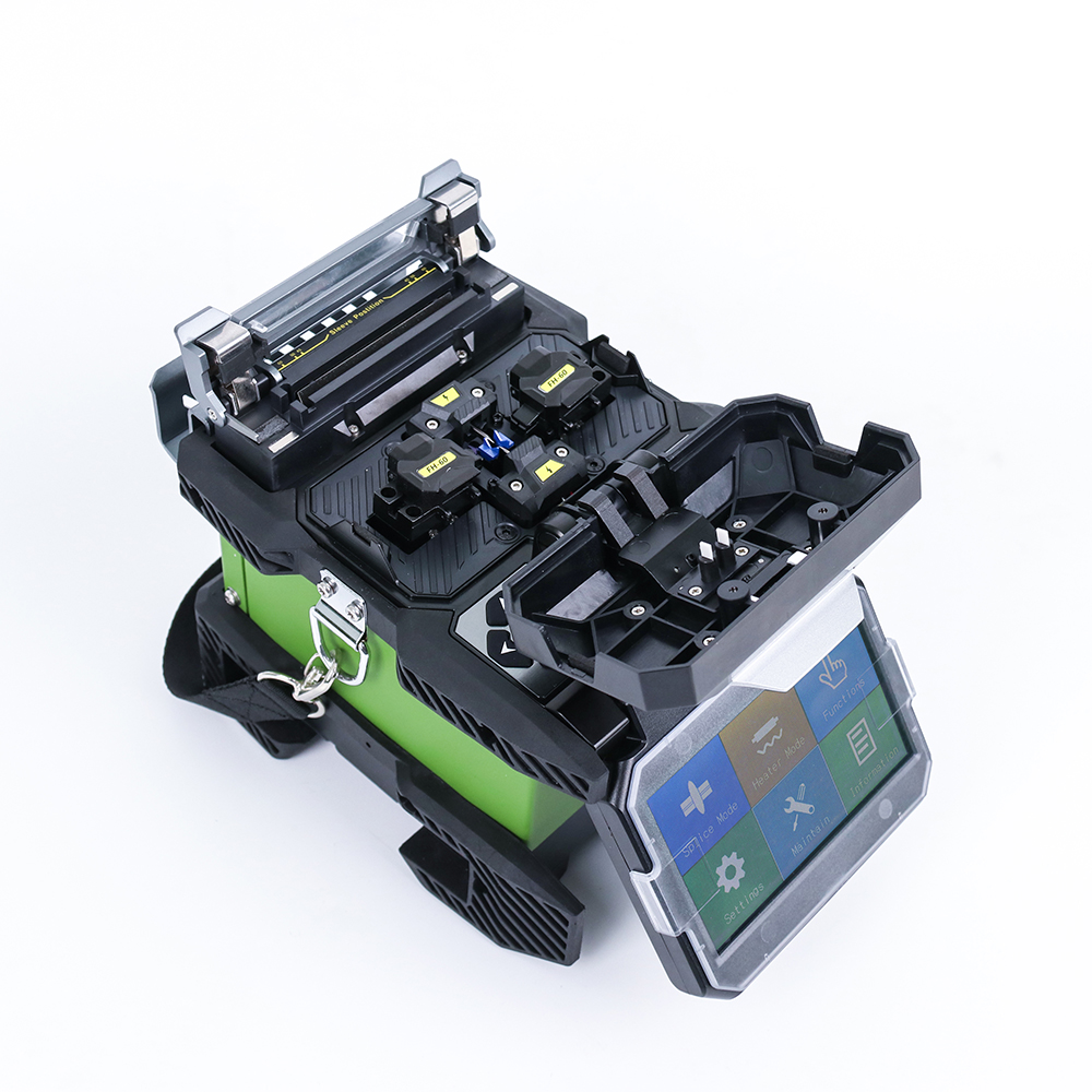 Komshine FX37 core to core alignment portable optic fiber fusion splicer with 7S fast splicing and 0.02 low splicing loss-in Fiber Optic Equipments from Cellphones & Telecommunications