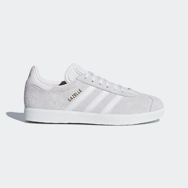 Gray women sneakers CQ2183 adidas gazelle/bco