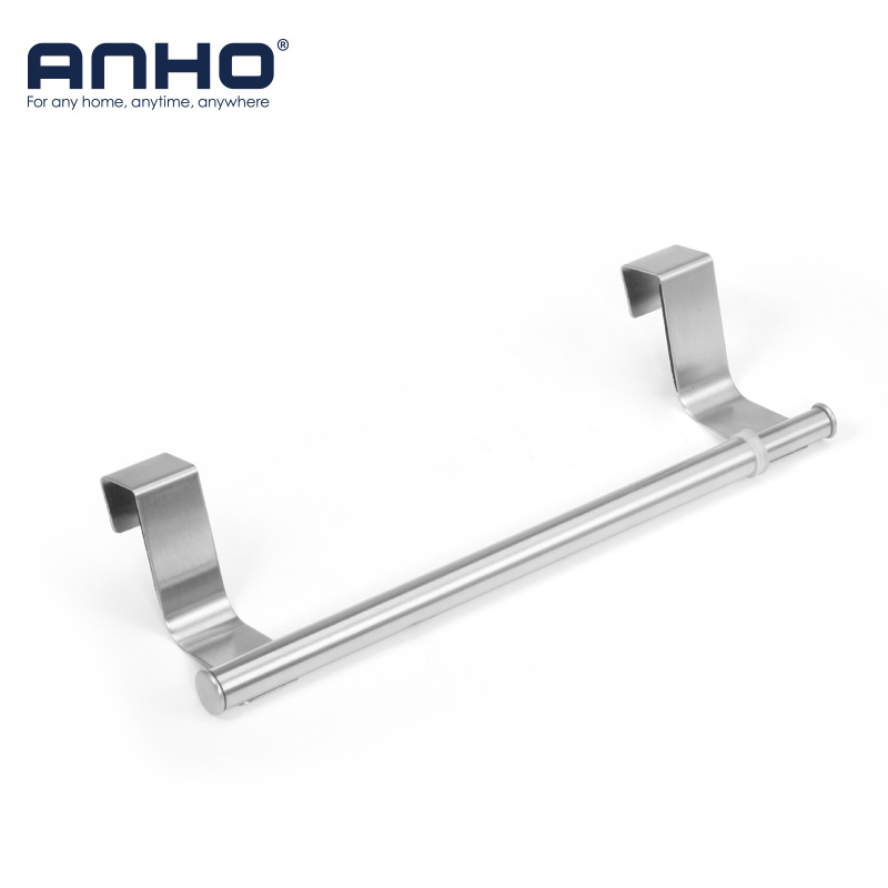 Kitchen Stainless Steel Hook Adjustable Towel Bar Holder Shelves Hanging Over Door Bathroom Storage Hanger Cabinet Towel Rack стоимость