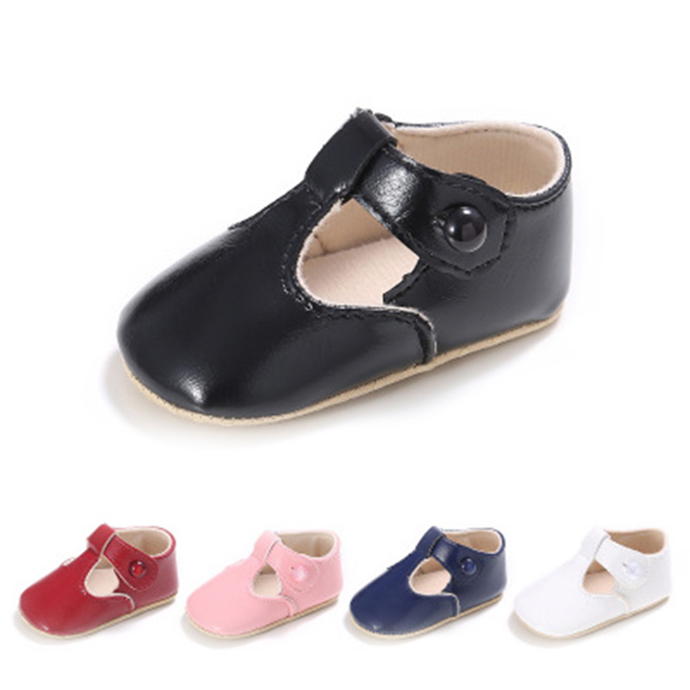 First Walkers Soft Leather Newborn shoes Girls Infant Toddler baby girl princess shoes red