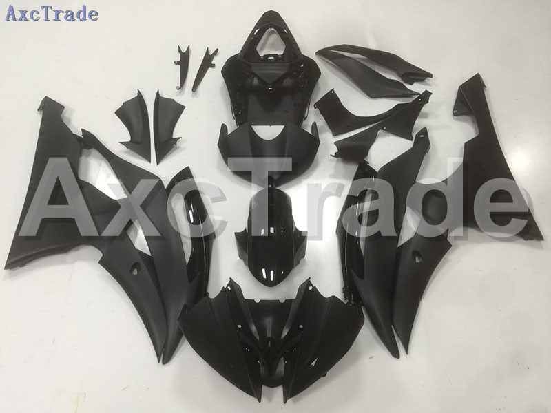 Motorcycle Fairings Kits For Yamaha YZF600 YZF 600  R6 YZF-R6 2008-2014 08 - 14 ABS Injection Fairing Bodywork Kit Black B48 hot sales yzf600 r6 08 14 set for yamaha r6 fairing kit 2008 2014 red and white bodywork fairings injection molding