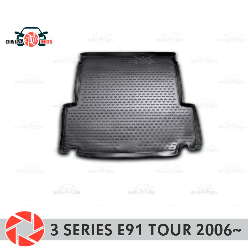 Trunk mat for BMW 3 Series Touring E91 2006~2012 trunk floor rugs non slip polyurethane dirt interior trunk car styling автомобиль bburago bmw 3 series touring 1 24 белый 18 22116