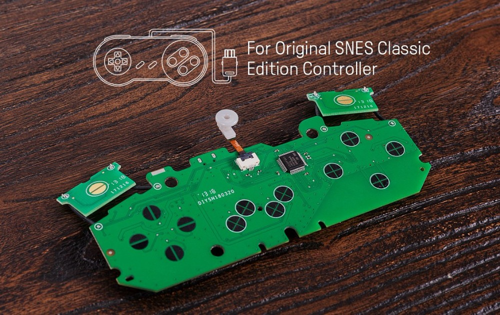 8BitDo Mod Kit for SNES/SF-C Classic Edition Controller DIY SNES Classic Controller to Bluetooth Gamepad