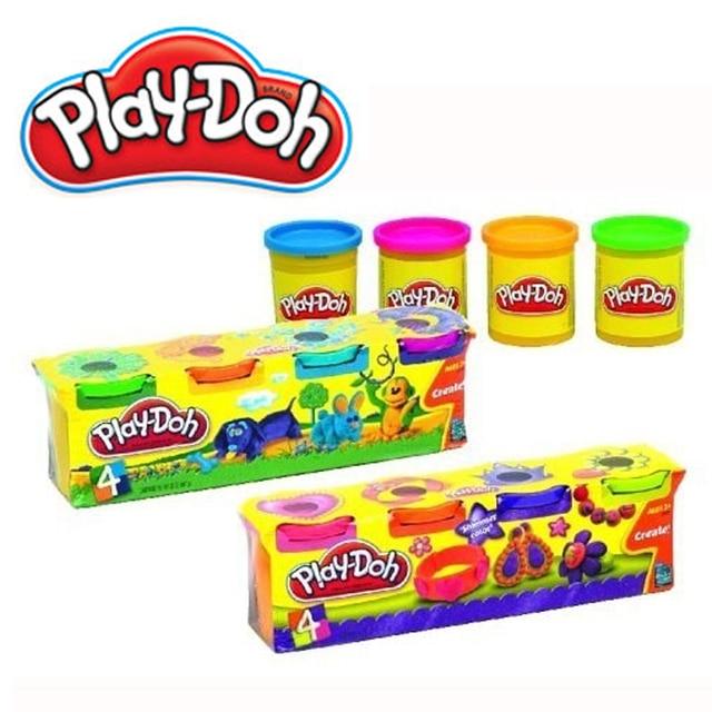 Набор из 4 баночек пластилина PLAY-DOH в ассортименте