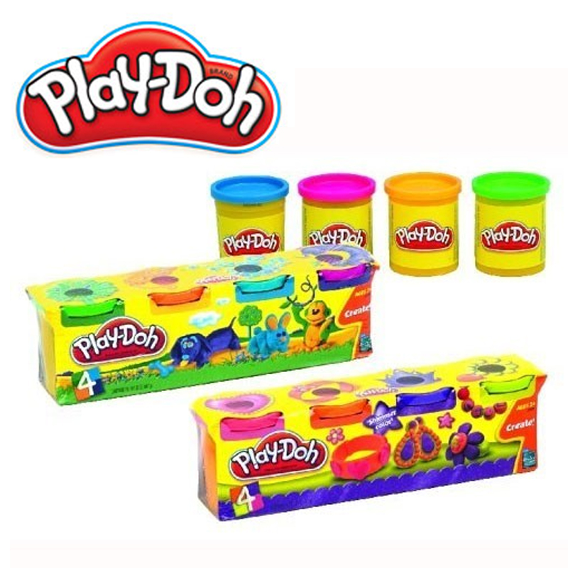 Modeling clay PLAY-DOH Four cups of different colors B3604EU4 24 bingo daubers colorful large 4 oz 120ml six different colors
