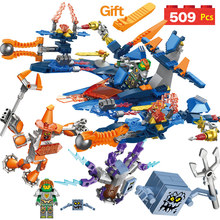 Hot New Technic LegoINGLY NEXO KNIGHTS Aaron Future Space Fighter Mech Action Figures Building Bricks Blocks Set Toys