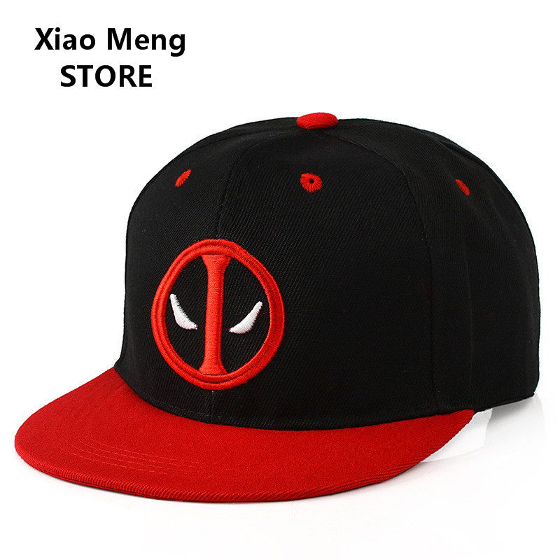 2017 New Marvel Anime Deadpool Baseball Cap Hat Adjustable Hip Hop Caps America Comic Hero Snapback Hats For Men Women Bones M46 [wuke] real brand colorful cap hip hop man women snap backs for men cool snapback baseball caps brim straight hats new bones