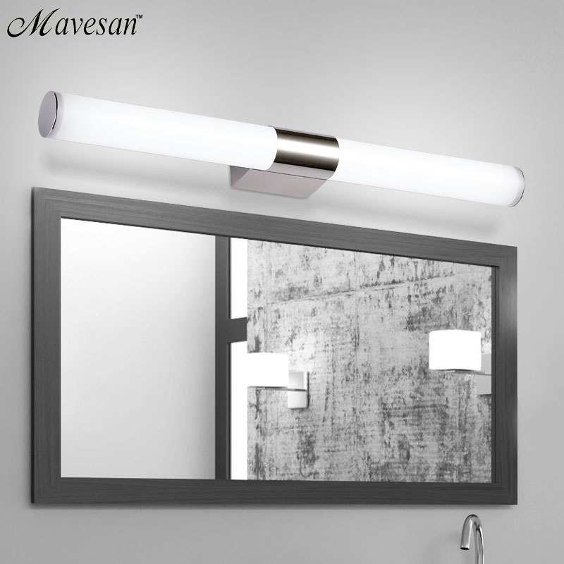 Modern Mirror Lights Anti-fog Led Bathroom Lights Mirror Wall Lamp Dressing Table/toilet/bathroom Lamp White Black Wall Sconces By Scientific Process Led Indoor Wall Lamps Lights & Lighting