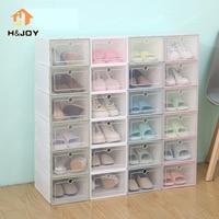 5PCS Shoe Storage Box Case Transparent Eco Friendly Plastic Storage Box Rectangle PP Shoe Organizer Thickened drawer Shoe Box