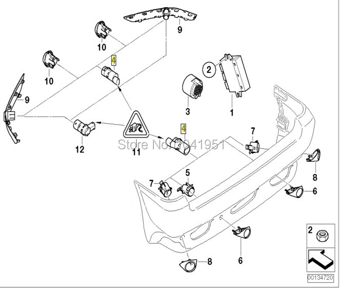 Pz362 00208 C0 Pz362 00208 Parking Sensor For Camry30 Camry40