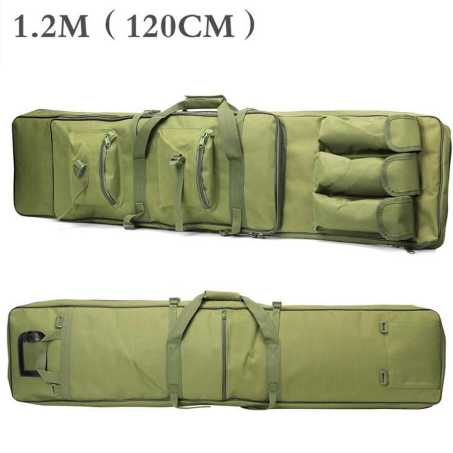 Sac tactique 85 100 120 cm fusil fusil carré sac de transport armée vert avec bandoulière étanche chasse tir assaut Pack