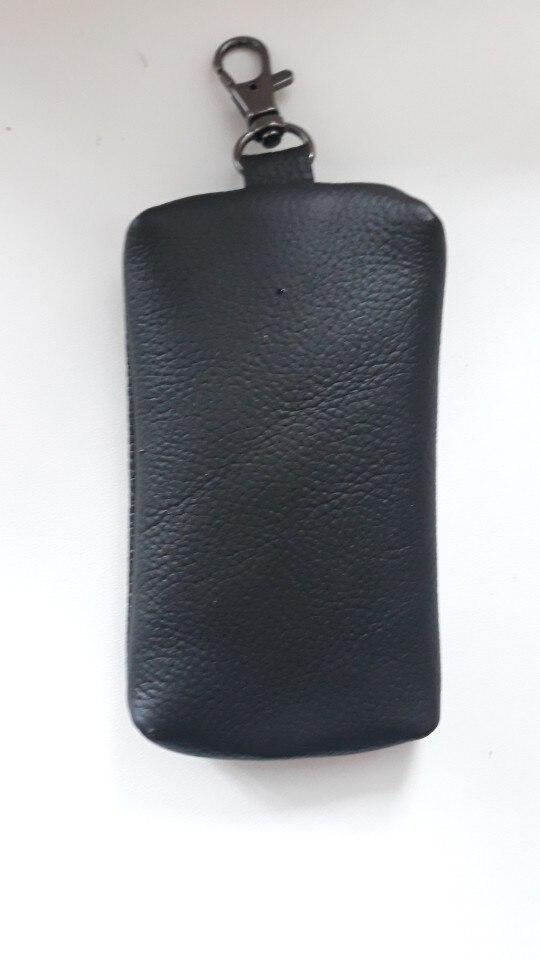 2019 Men's 100% Genuine Leather Car Key Holder Women's Housekeeper Keys Organizer with Keychain Case Zipper Wallet Coins Purse photo review