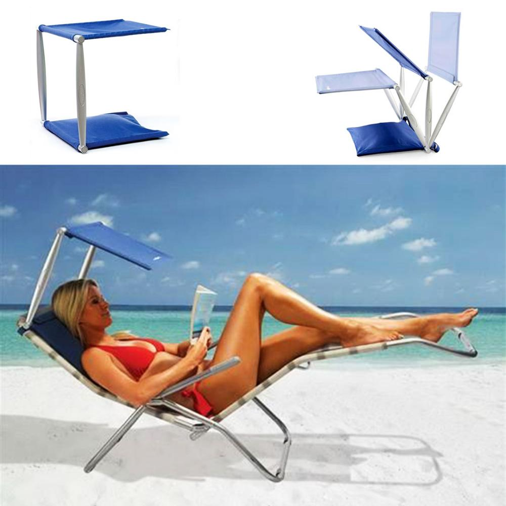 Lightweight Portable Beach, Swimingpool and Outdoor Sunshade Providing Cush N Shade UV,UVA,UVB Sun Protect Sunbed Awning
