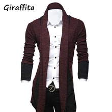 2017  Giraffita New Men's Fashion High Street Hip-hop Cardigan Sweater Stitching Clothing Quality Control