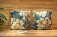 45*45 cm clássica floral do vintage capas de almofada do sofá almofada lombar fronha flor decorativa fronha caso almofadas interior
