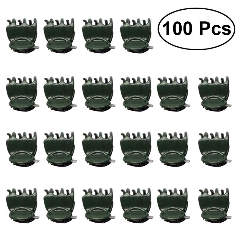 100pcs Orchid Clips Plant Orchid Support Clips Garden Flower Vine Clips For  Supporting Stems Vines Stalks