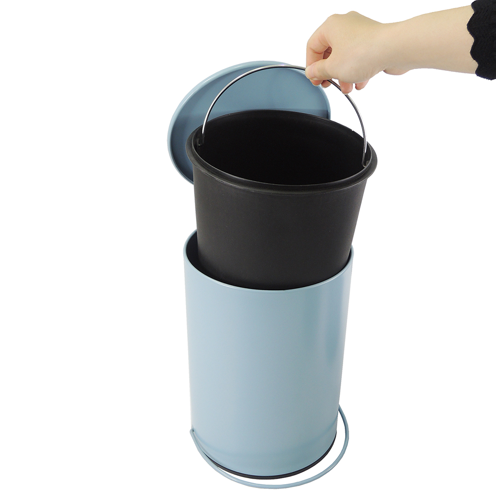 3L 5L Home Trash Can Creative Line Pedal Waste Bin Kitchen Outdoor ...