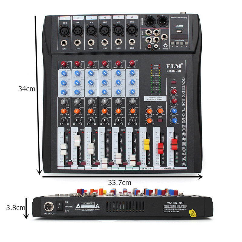 Leory Mini 8 Kanal Karaoke Audio Mixer Mikrofon Sound Digitalen Mischen Verstärker Konsole Mit Usb Eingebauten 48 V Phantom Power Heim-audio & Video