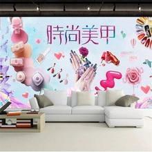 Fashion cosmetics nail shop makeup shop background wall professional production murals wholesale wallpaper custom photo wall