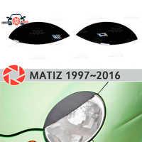 Sourcils pour Daewoo Matiz 1997 ~ 2016 pour phares cils cils moulures en plastique décoration garniture voiture style moulage
