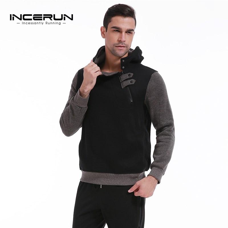 2018 Autumn Winter Men Hooded Hoodies Plus Size Warm Fleece Lined Fashion Sweatshirt Casual Velvet Men Tracksuit Pullovers 3XL