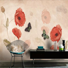 Hand-painted flower flowers TV background wall professional production mural wallpaper wholesale custom poster photo wall hand painted color oil painting background wall professional production mural factory wholesale wallpaper poster photo wall