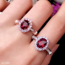KJJEAXCMY boutique jewelry 925 sterling silver inlaid natural garnet gemstone female luxury ring support detection natural purple tooth garnet garnet ring classic garnet s925 sterling silver jewelry free shipping
