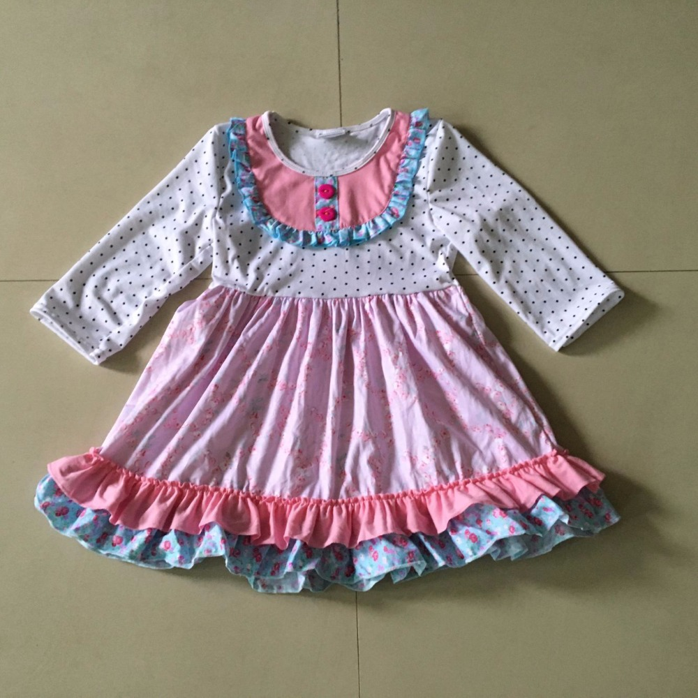 100%Cotton Striped Summer Style With Ruffle Trim And Full Sleeveless Baby Girl Dress Apparel Accessory frill trim ruffle sleeve surplice wrap dress