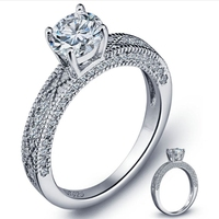 Victoria Wieck Women Luxury Jewelry 7mm Princess Cut White Sapphire Simulated AAA CZ Gem 925